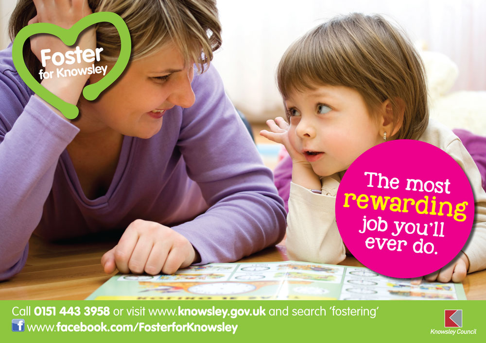 Fostering poster - woman and girl