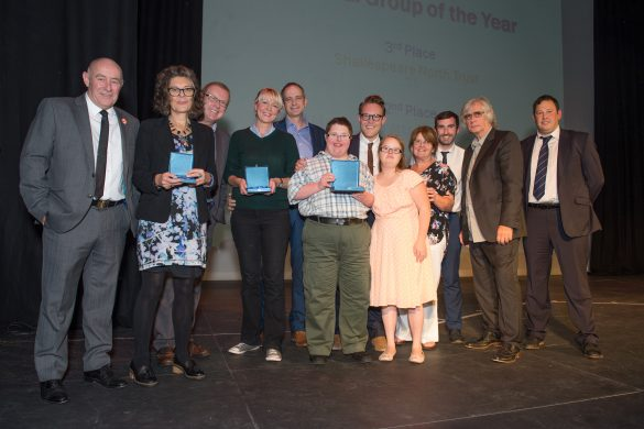 Winners and runners up of the Cultural Group of the Year Award
