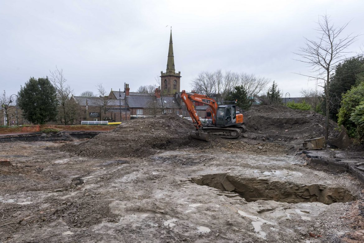 Archaeological open day at Mill Street in Prescot, the site of the Shakespeare North Playhouse.