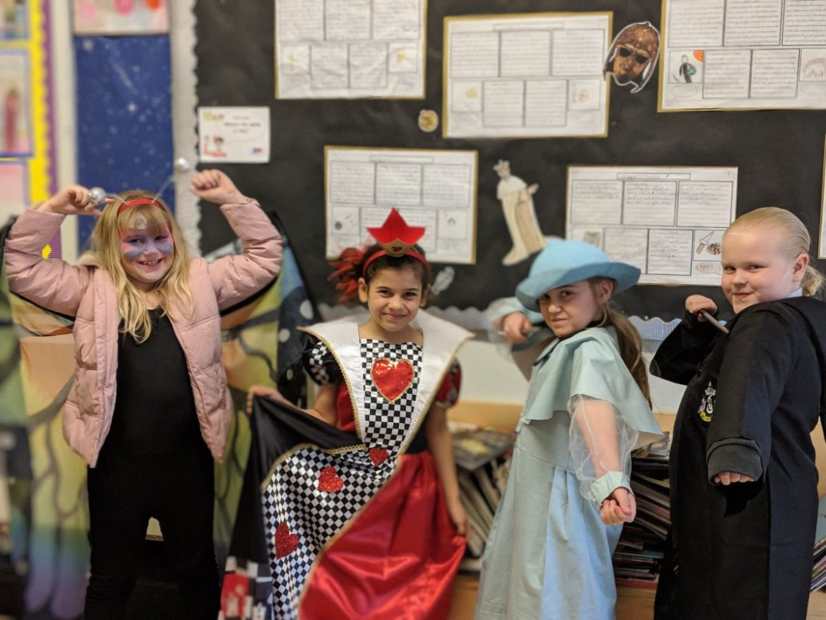 Pupils from Sylvester Primary dressed up for World Book Day 2019.