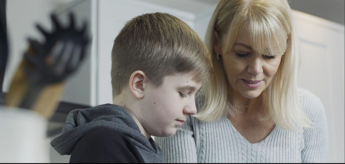 Eliot and Brenda, characters in the Foster for Knowsley film telling the real life story of a formerly looked after child