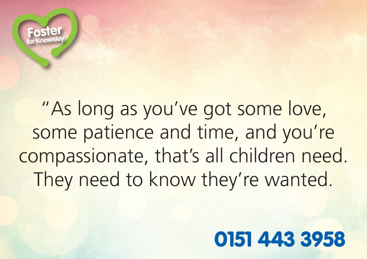 Foster Care Quotes Foster Care Fortnight What Does A Foster Carer Do  Knowsley News