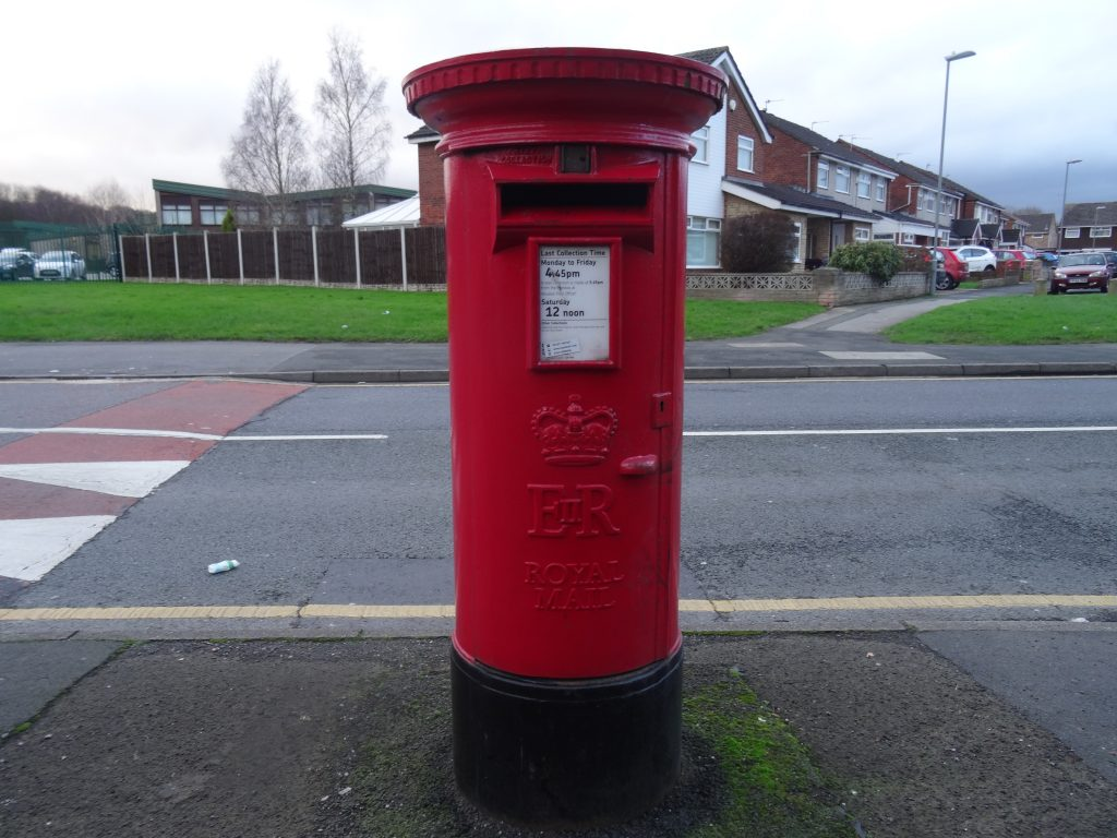 Images of Halewood Red Post Box