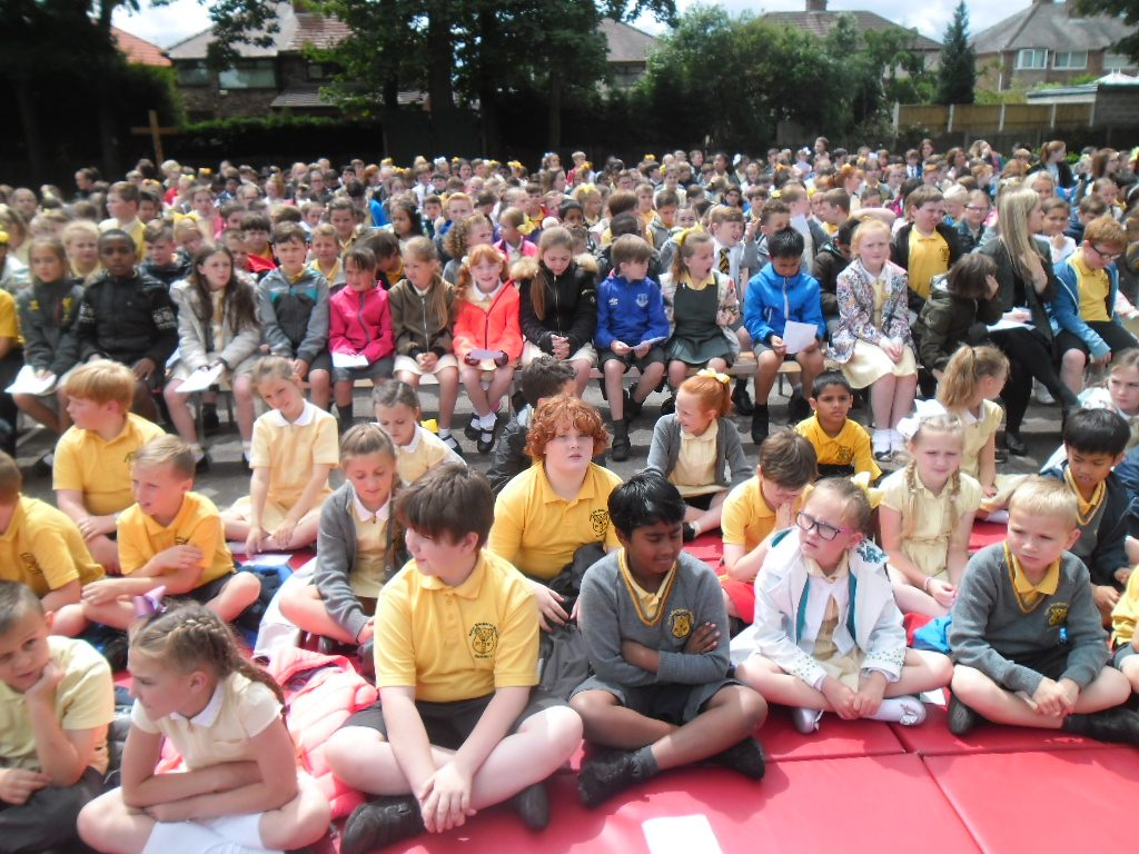 Children at the opening event