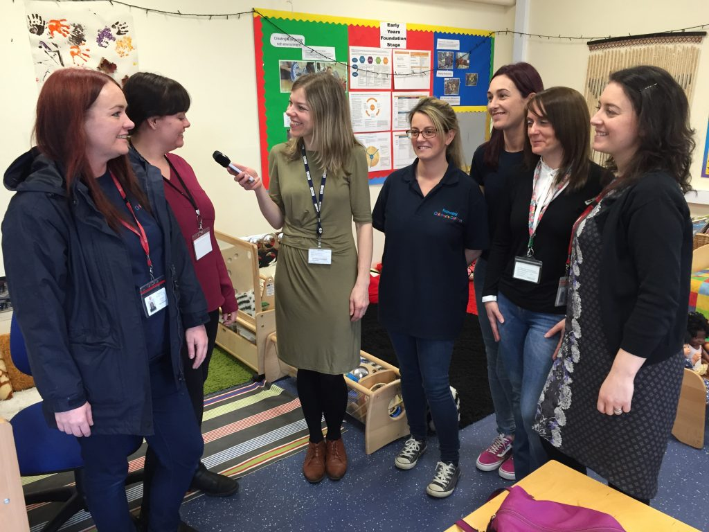 Children's Centres volunteers and staff interviewed by Radio Merseyside earlier this year
