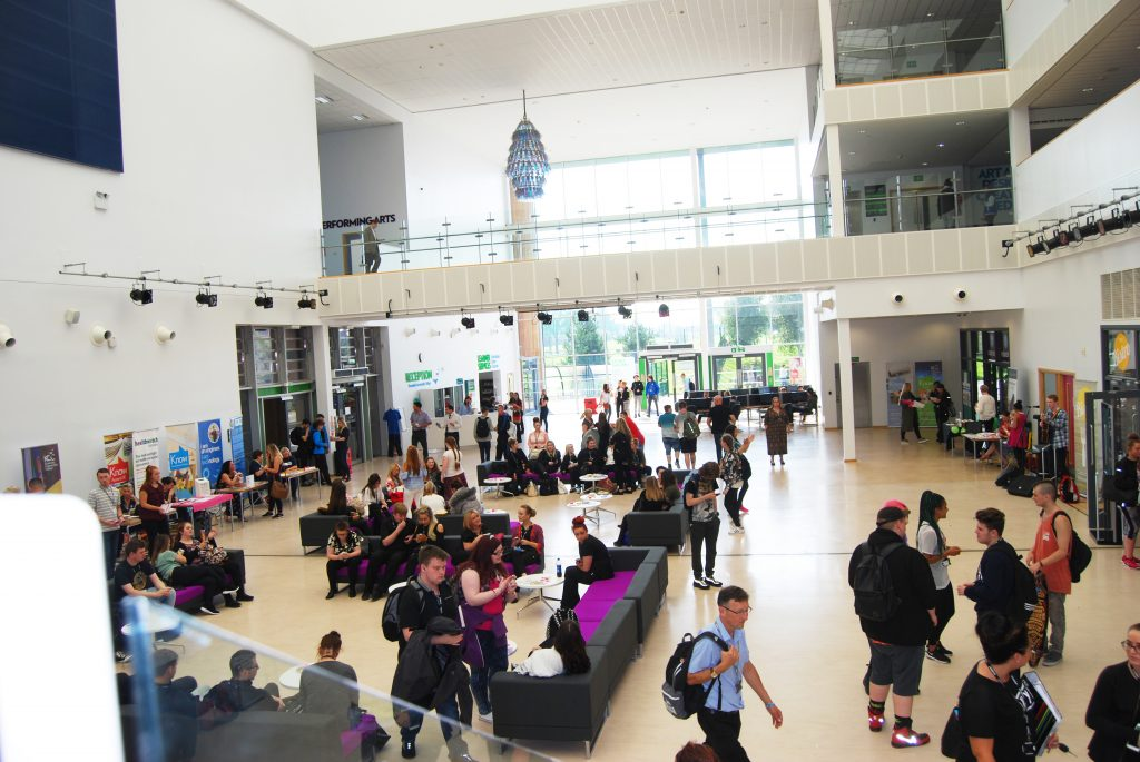 The atrium at Knowsley Community College's Huyton campus