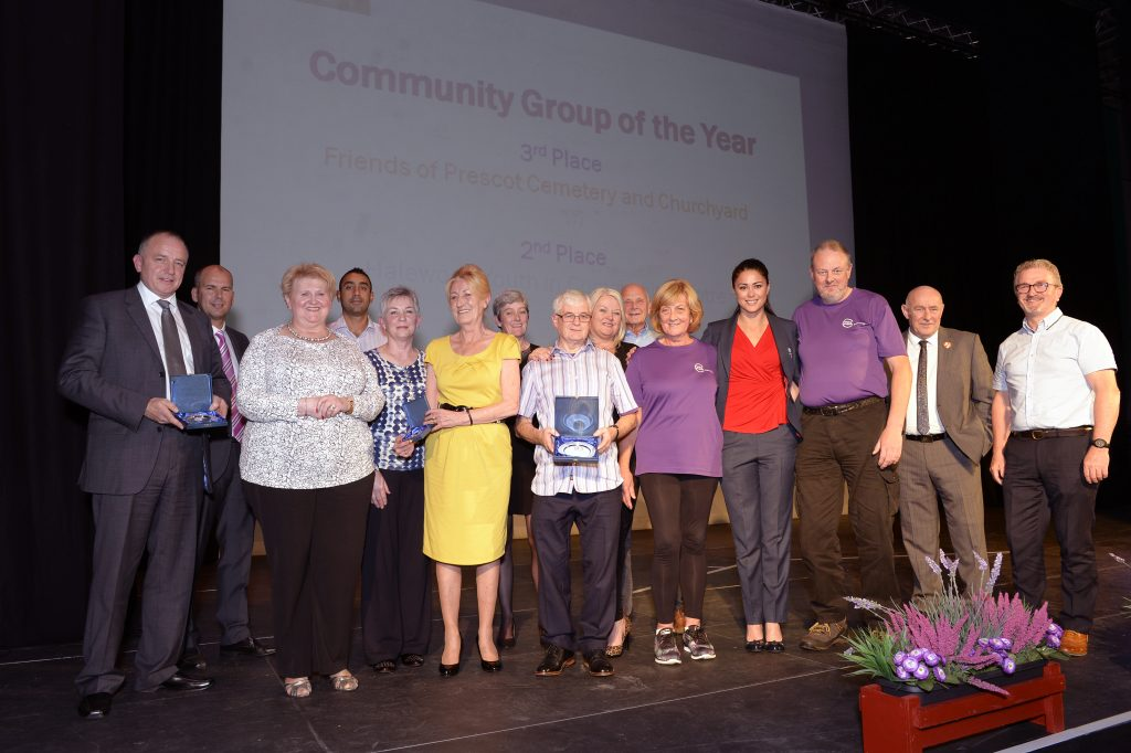 Winners and runners up of the Community Group of the Year award
