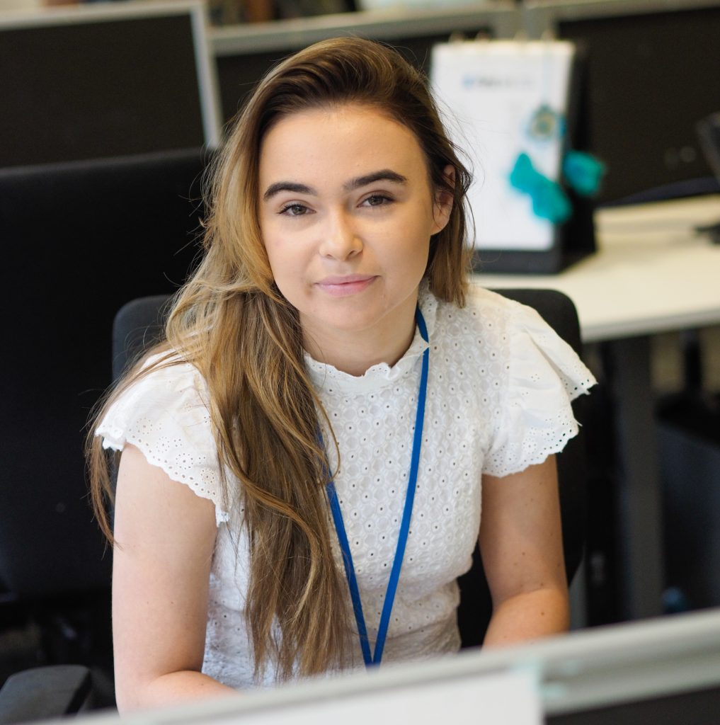 Leah Lewin is the 1,000th Knowsley Apprentice and works at First Ark