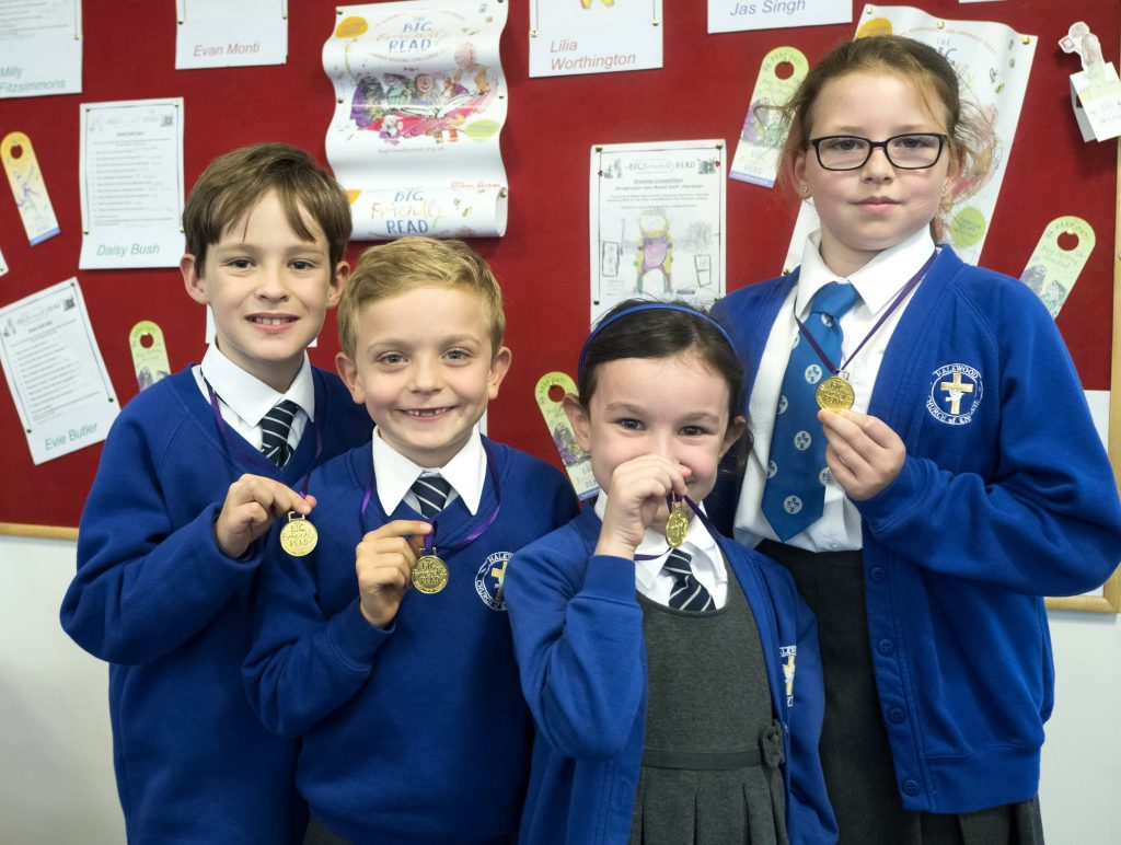Halewood C of E Primary, Reading Challenge Winners.