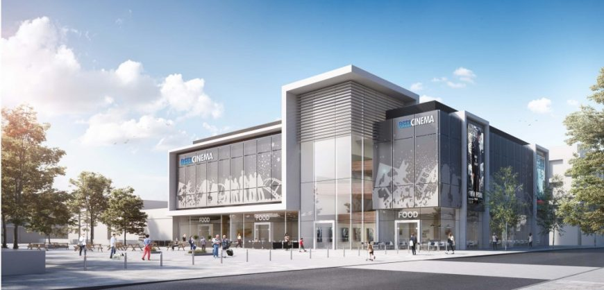 CGI image of how cinema in Kirkby will look