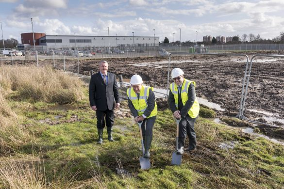 New football pitches are being created at Kirkby Leisure Centre