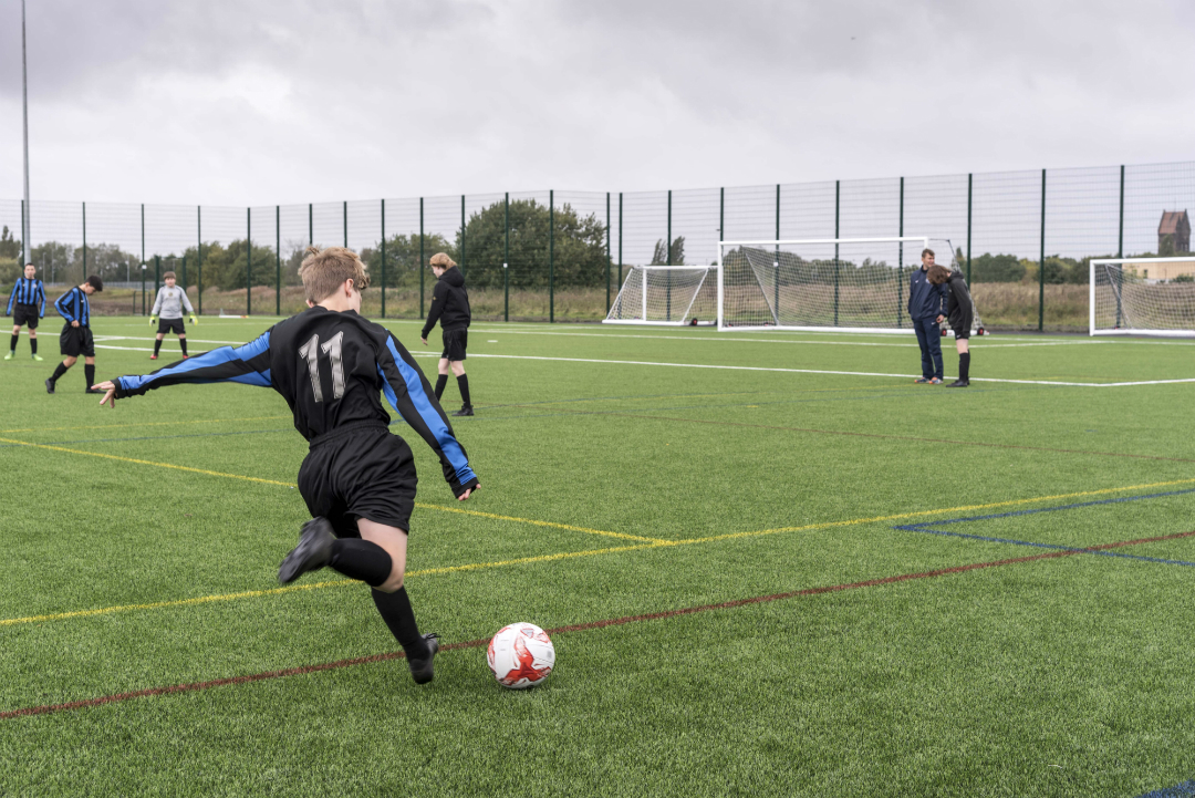 Young footballers try out Kirkby's new 3G pitch