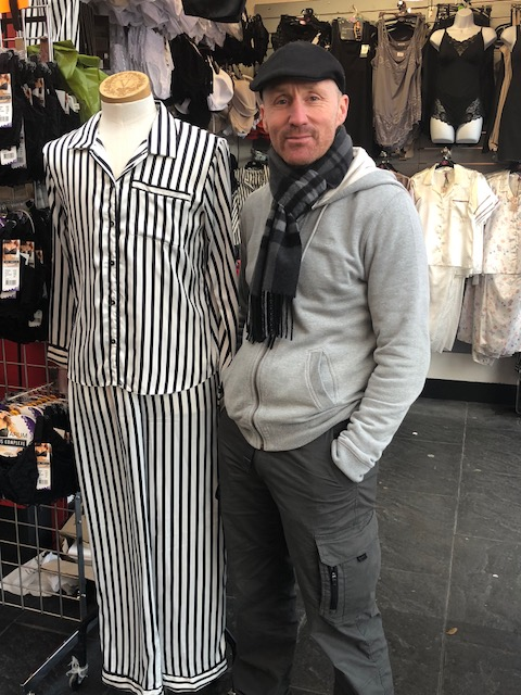 Kenny Rowe of Dress Sense on Kirkby Market