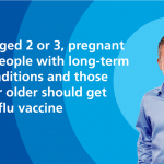 NHS doctor giving advice about the flu vaccine