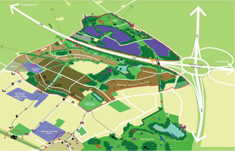 The vision for Halsnead Garden Village