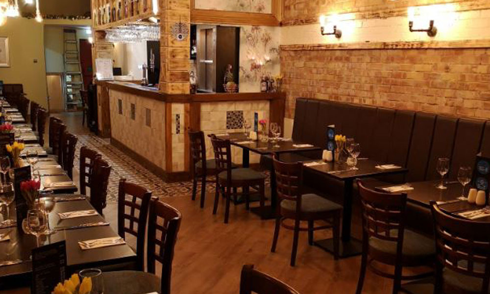 Inside the new Turkish and Mediterranean restaurant, Eton Place, in Huyton Village Centre