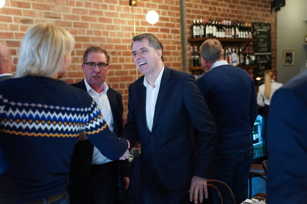 Metro Mayor, Steve Rotheram, meets Prescot businesses.